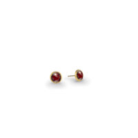 Marco Bicego Jaipur Garnet Stud Earrings Yellow Gold Marshall Pierce & Company Chicago