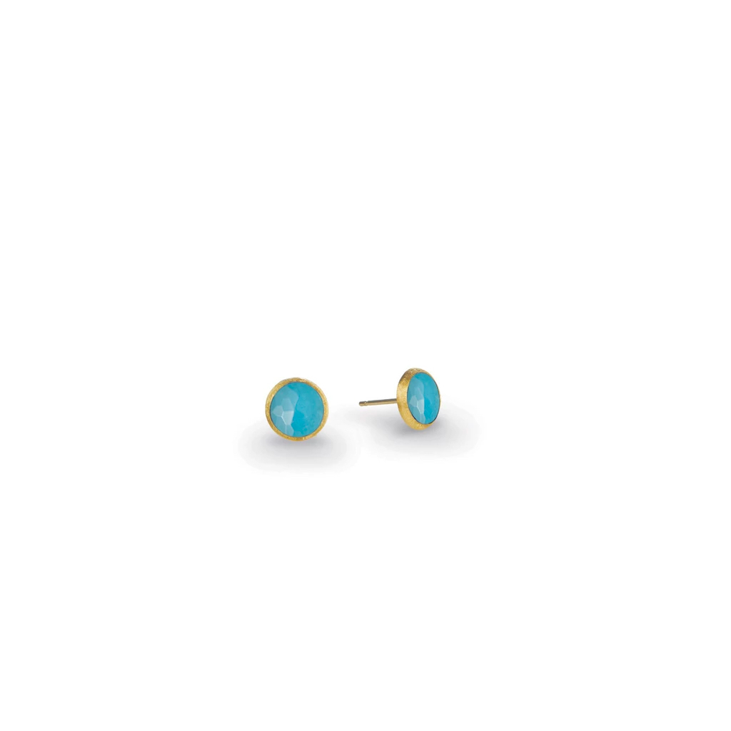 Marco Bicego Jaipur Yellow Gold Turquoise Stud Earrings Marshall Pierce & Company Chicago