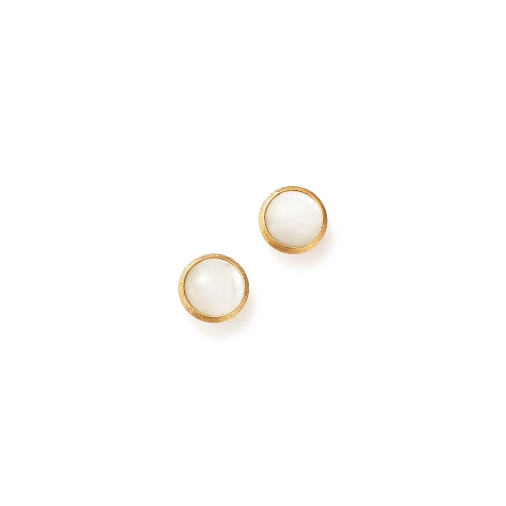 Marco Bicego Jaipur mother of pearl stud earring yelow gold Marshall Pierce & Company Chicago OB957MPWY