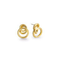 Marco Bicego Jaipur yellow gold small knot stud earrings Marshall Pierce & Company chicago