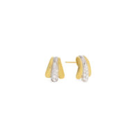 Marco Bicego Lucia Yellow Gold and Diamond Stud Earrings OB1682BYW