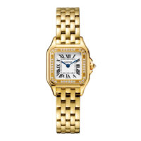 Panthère de Cartier in Yellow Gold with Diamonds - Small Model - Ladies Watch - WJPN0015