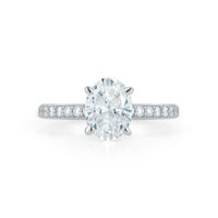 Pave Collection Oval Diamond Engagement Ring Platinum Marshall Pierce & Company Chicago