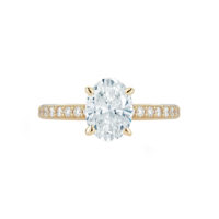 Pave Collection Oval Diamond Engagement Ring in Yellow Gold Marshall Pierce & Company Chicago