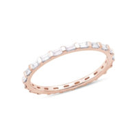 Sadie Pearl Baguette Eternity Ring ROSE GOLD STYLE- #R1069-ROSE-7 dana rebecca Marshall Pierce & Company Chicago
