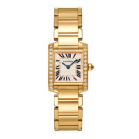 WJTA0024 Cartier Tank Francaise yellow gold diamond bezel small model Marshall Pierce & Company Chicago